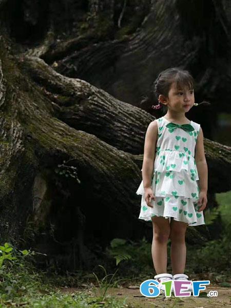 SCIACCAmini夏卡豆丁童装品牌2019春季新款背心裙公主裙