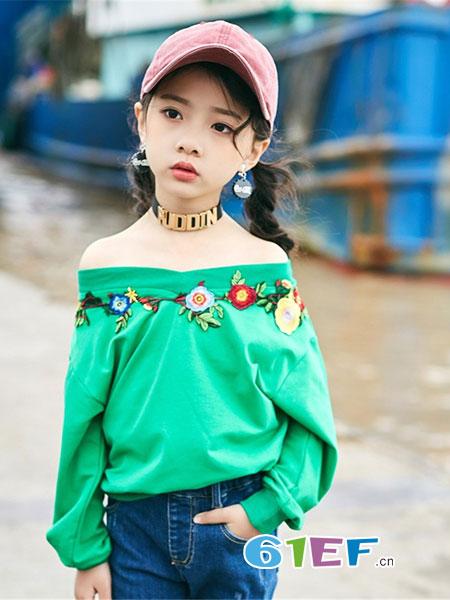 �����趣童�b品牌2019春夏麦H派韩版潮童卫衣T恤