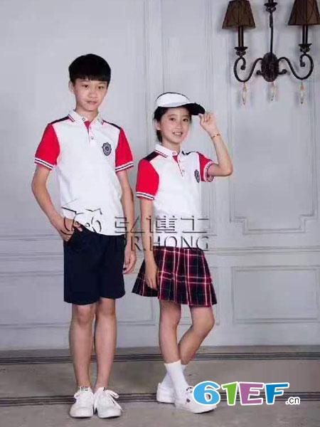 弘博士童装品牌2019春夏短袖校服班服英伦学院风套装