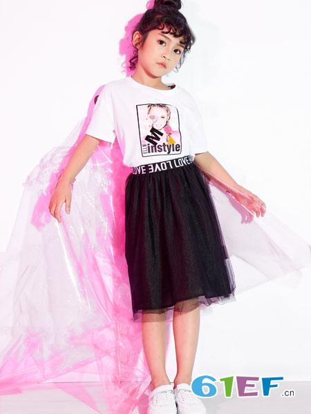 欧米源童装品牌2019春夏新款棉质短袖印花T恤韩版潮流时尚