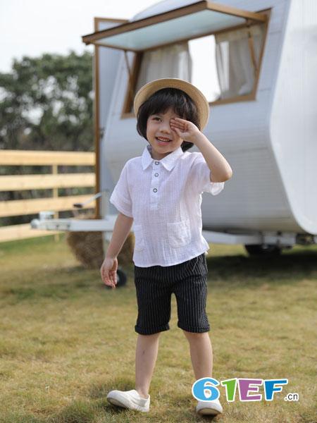 欧米源童装品牌2019春夏百搭白衬衫全棉上衣衬衣