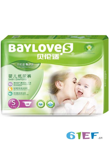 贝伦适婴童用品2019春夏婴儿纸尿裤S码88片