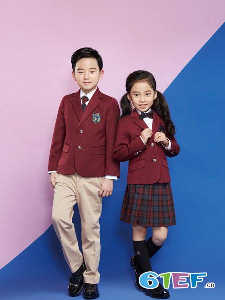 乔治白校服童装品牌2019春夏英伦风西装套装小学生校服