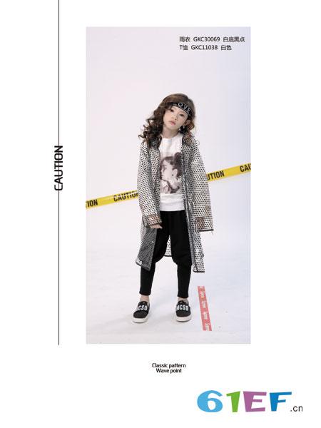 叮当猫潮牌童装品牌2019春夏透明豹纹印花 带帽中长款外套 雨衣