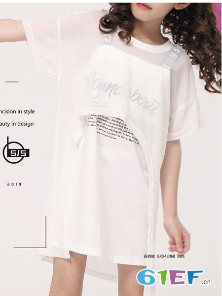叮当猫潮牌童装品牌2019春夏透气镂空短袖上衣