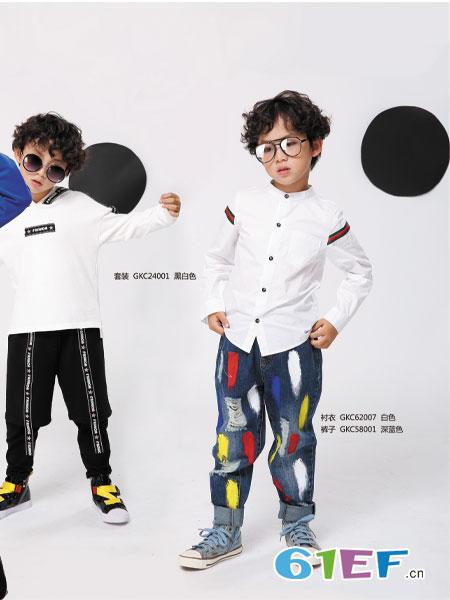 叮当猫潮牌童装品牌2019春夏爵士舞表演服装舞台少儿嘻哈现代舞套装