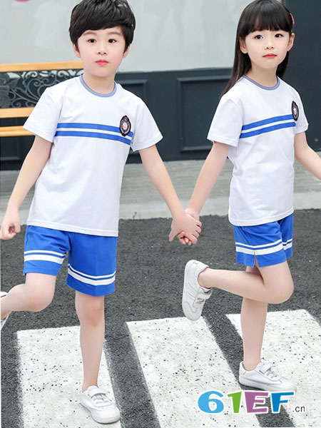 威酷童装品牌2019春夏演出班服套短袖新款套装
