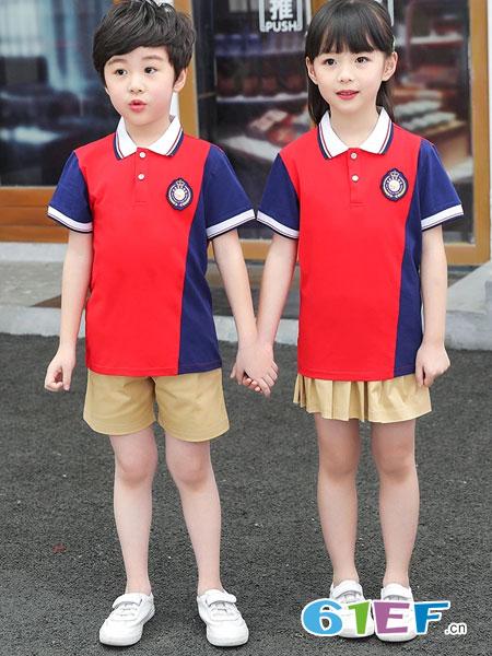 威酷童装品牌2019春夏校服套装学院风儿童运动服班服小学