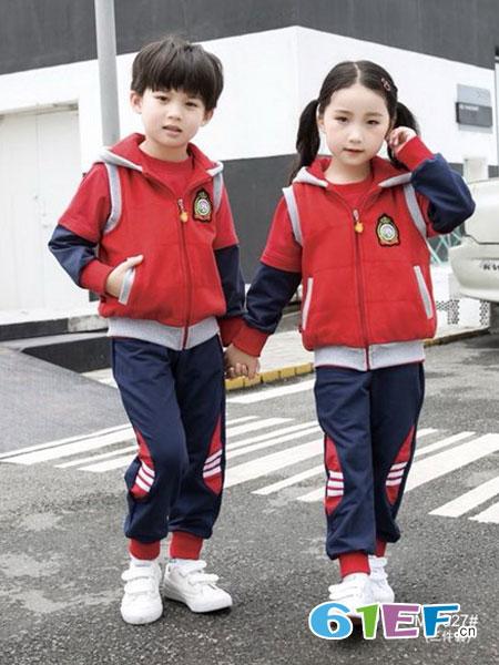 玛咪哇咔童装品牌2019春夏中小学生班服校服英伦风套装