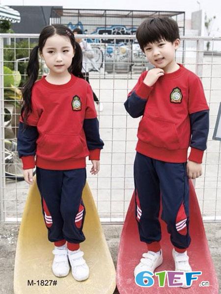 玛咪哇咔童装品牌2019春夏套装运动装套头衫套装休闲套装马甲