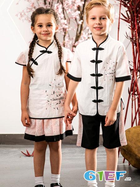 爱兔童装品牌2019春季幼儿园服小学生班服套装儿童演出服