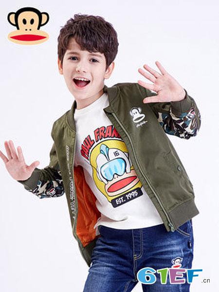 大嘴猴童装品牌2019春季儿童外套长袖运动棒球服
