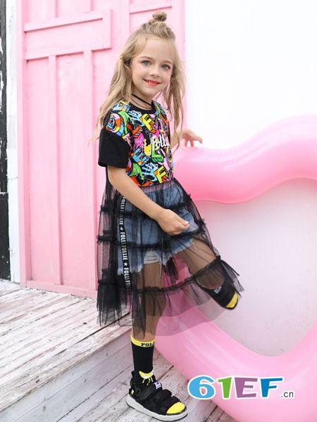 Folli Follie童装品牌2019春夏时尚洋气宽松显瘦卡通图案中
