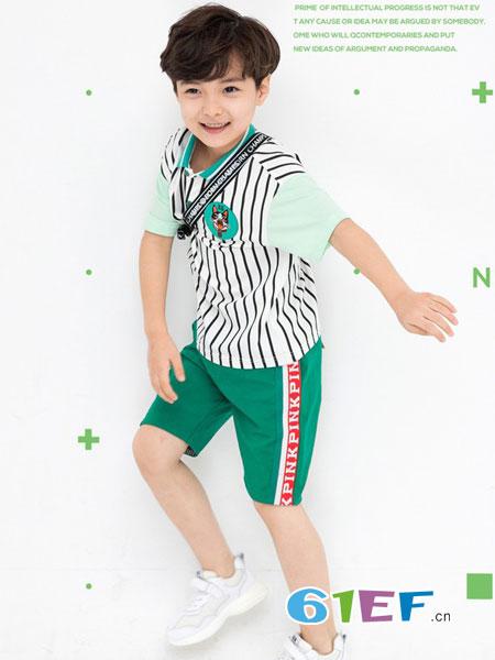 西萌叮童装品牌2019春夏运动休闲款 英伦款 班服