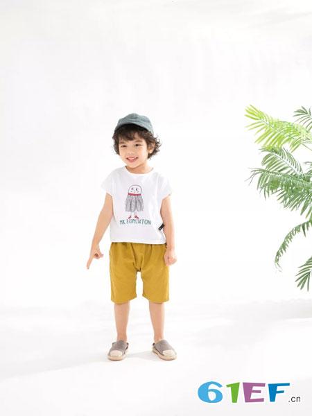 兔子杰罗童装品牌2019春夏卡通儿童休闲短袖上衣