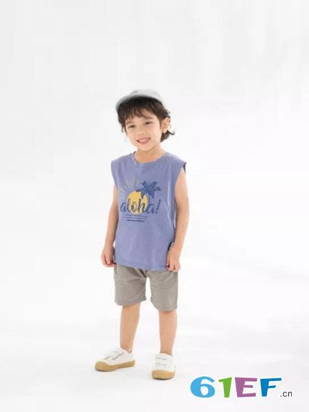 兔子杰罗童装品牌2019春夏字母卡通休闲短袖上衣
