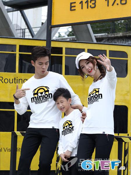 龙子印LOZIYN情侣亲子2019春季儿童亲子装韩版时髦两件套装