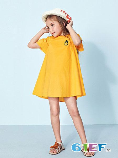 Mongdodo梦多多童装品牌2019春童刺绣公主裙新款