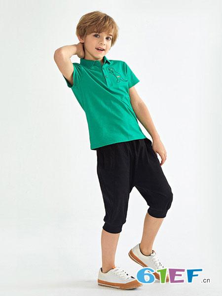 Mongdodo梦多多童装品牌2019春夏短袖跳舞练功服演出服舞蹈上衣烫花