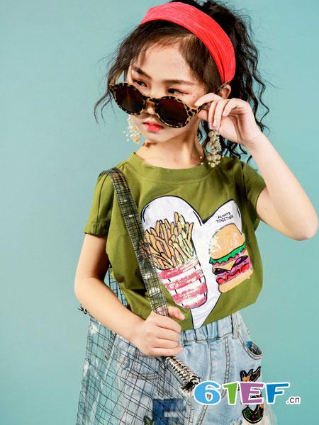 玖喆潮童童装品牌2019春夏新款韩版女童卡通印花薄款长袖休闲上衣