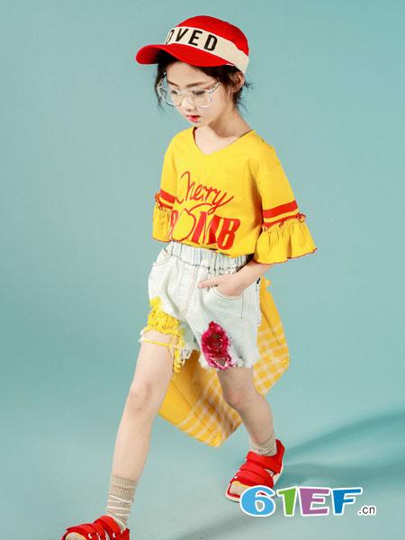 玖喆潮童童装品牌2019春夏女童时尚破洞牛仔裤韩版洋气毛边女孩短裤