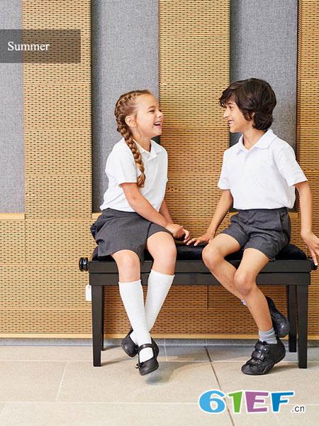 大卫卢克童装品牌2019春季学生学院风衬衣班服纯色套装