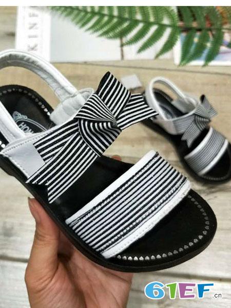 鸿胪娃童装品牌2019春夏凉鞋儿童公主休闲沙滩鞋