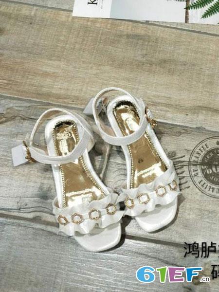 鸿胪娃童装品牌2019春夏款宝宝凉鞋儿童学步软底凉鞋童鞋