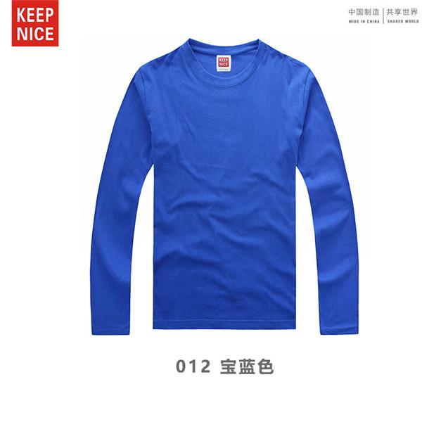 上海猛犸服饰童装品牌2019春夏新品220g全棉普梳平纹32支儿童长袖T恤衫8种颜色定制