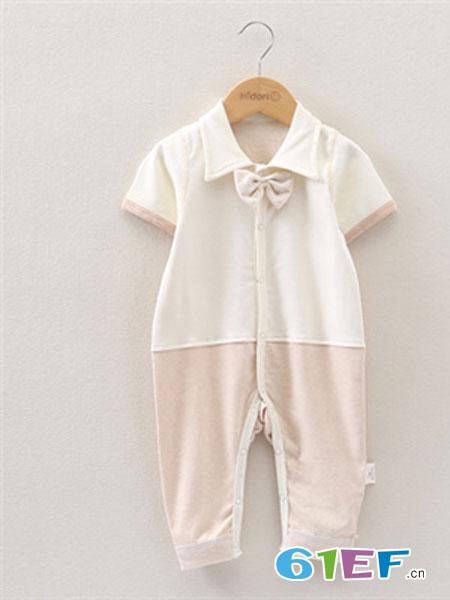Midori Organic Cotton童装品牌2019春夏领结连体衣品牌婴儿哈衣爬衣