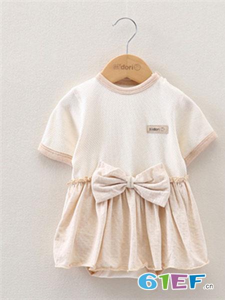 Midori Organic Cotton童装品牌2019春夏连体裙有机彩棉婴儿连体衣连身裙