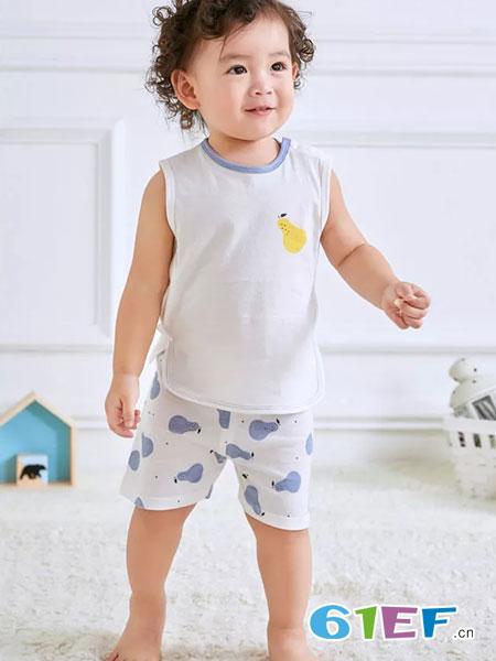 奥米多童装品牌2019春夏薄款圆领宽肩上衣