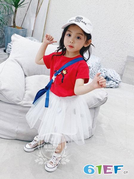 维尼叮当童装品牌2019春夏连衣裙短袖公主裙韩版洋气