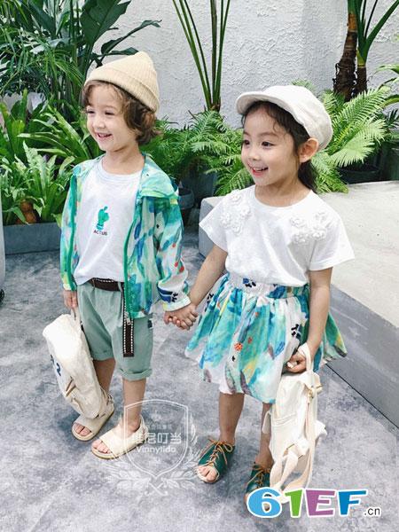 维尼叮当童装品牌2019春夏海边沙滩宝宝皮肤衣儿童防晒服