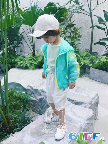 维尼叮当童装品牌2019春夏防晒衣服中大童皮肤衣超薄款开衫外套