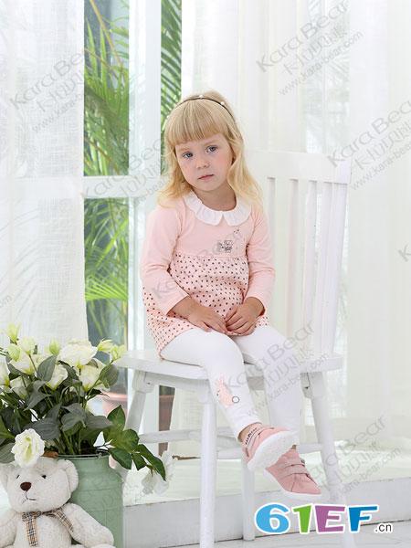 卡拉贝熊童装品牌2019春季新款套头衫长袖T恤打底衫