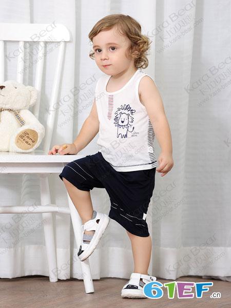 卡拉贝熊童装品牌2019春季休闲短裤儿童运动裤子