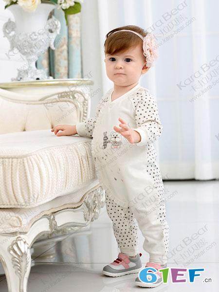 卡拉贝熊童装品牌2019春季长袖衣服秋装爬服