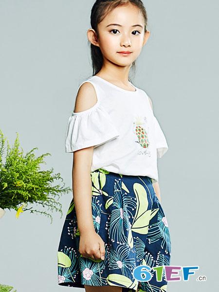 红蜻蜓KIDS童装品牌2019春夏薄款儿童外穿洋气休闲时尚裤裙