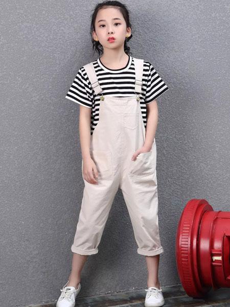 迪尼天地童装品牌2019春夏中大童男女童嘻哈时尚卡通T恤