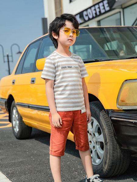 图零钱 TUTU Tips童装品牌2019春夏家居服短袖短裤条纹