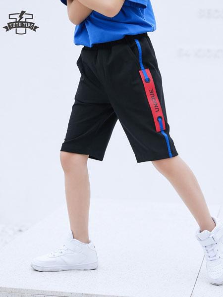 图零钱 TUTU Tips童装品牌2019?#21512;?#36816;动休闲裤儿童速干透气