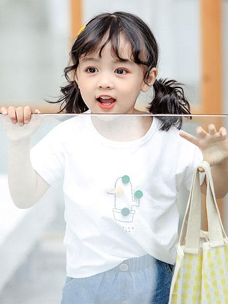 嗒囜DaNin童装品牌2019春夏新款韩版时尚短袖T恤儿童洋气