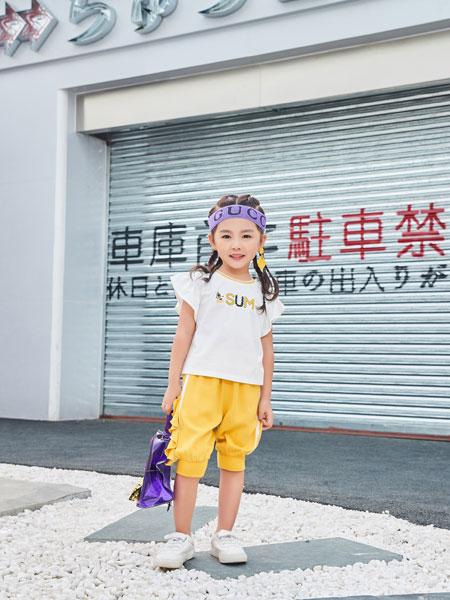 卡��菲特童�b品牌2019春夏新款短袖t恤�A�I�r髦�杉�套洋�馍弦露萄�