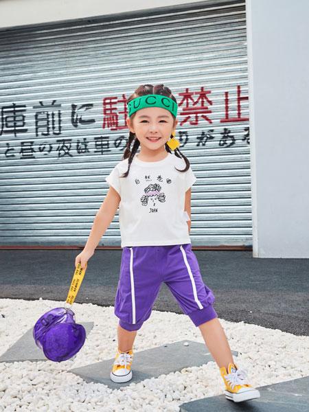卡��菲特童�b品牌2019春夏套�^T恤小童��松棉�|T恤