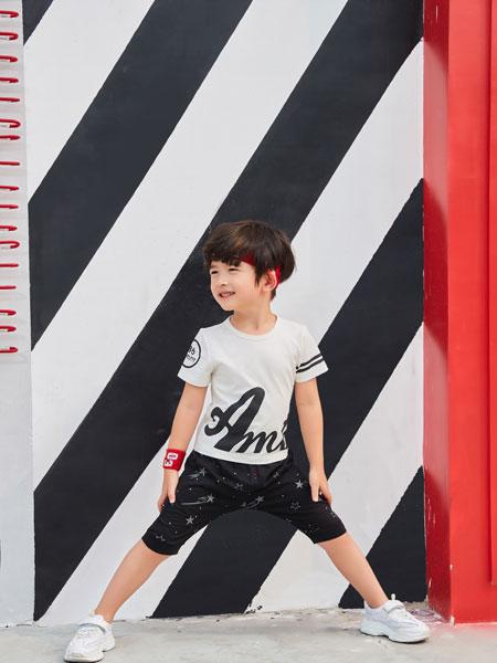 卡尔菲特童装品牌2019春夏潮童短裤短袖百搭外出