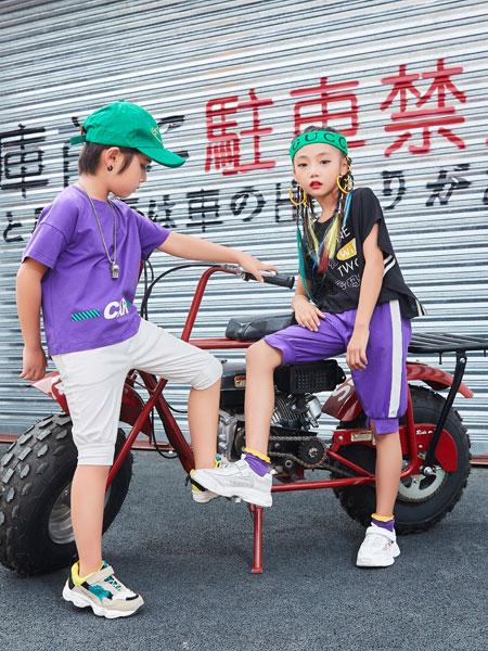 卡尔菲特童装品牌2019春夏圆领半袖体恤衫