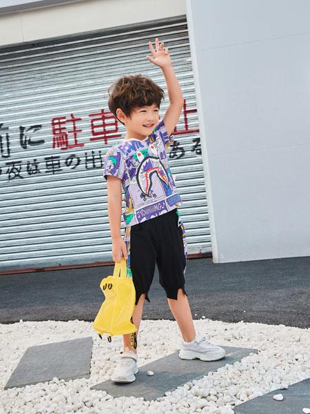 河南卡儿菲特童装品牌2019春夏卡通印花韩版体恤洋气上衣
