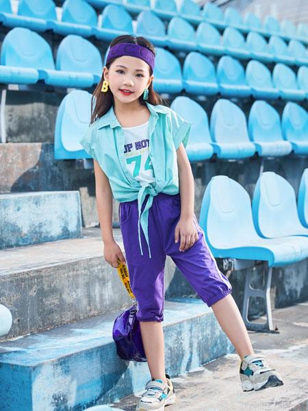 山西卡儿菲特童装品牌2019春夏新款韩范条纹假两件衬衣学生chic上衣