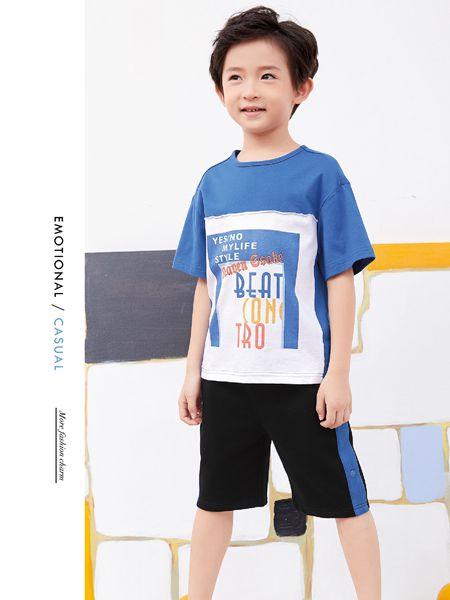 小鬼当家童装品牌2019春夏图案T恤儿童透气宽松打底衫上衣潮